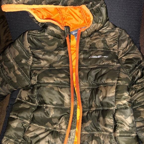 1bc16be465ca1 Eddie Bauer Jackets & Blazers - Camo/orange toddler Eddie Bauer puffer coat